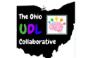 The Ohio UDL Collaborative words are written within an image of the state of Ohio with a brain next to it.
