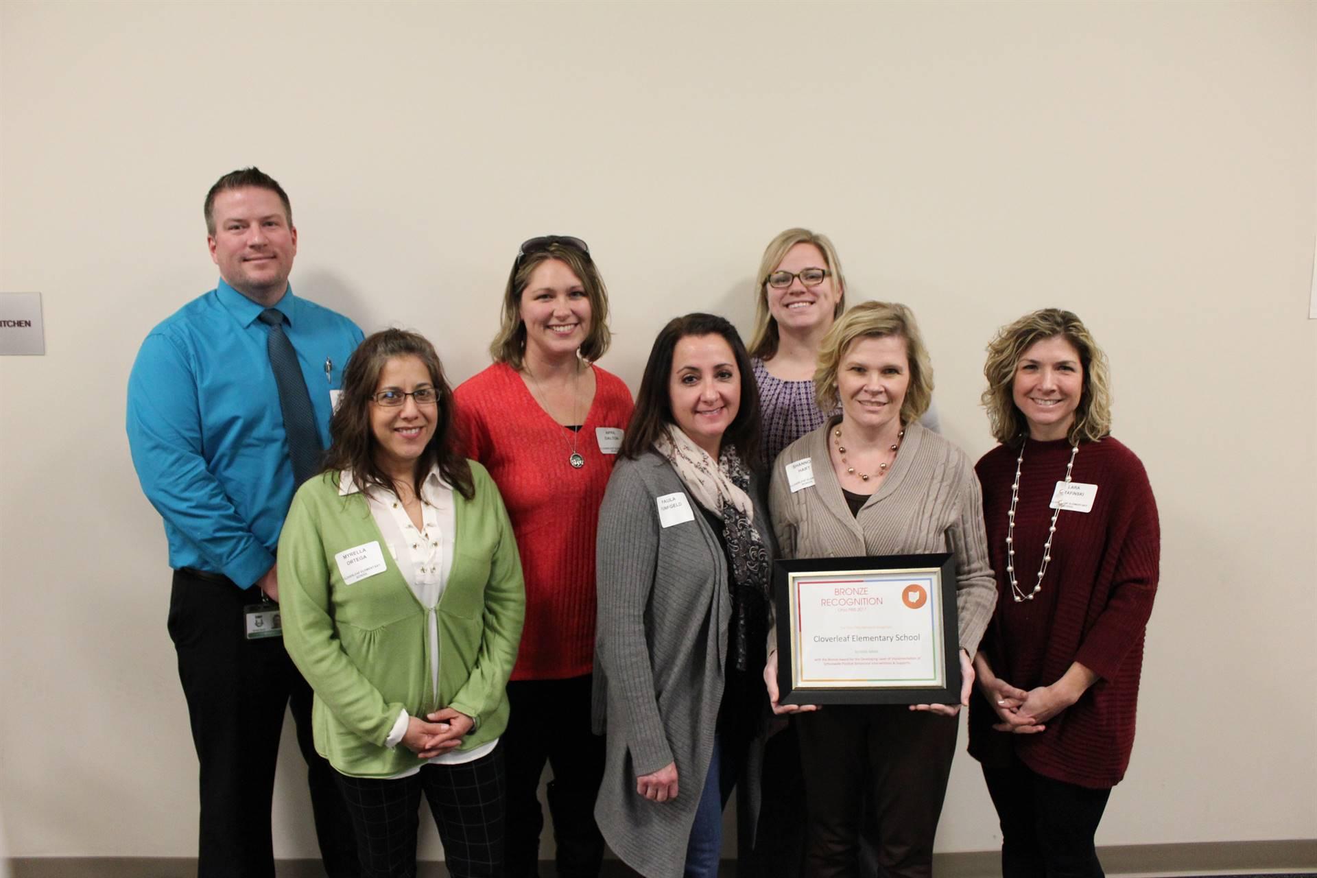 Cloverleaf Elementary Bronze Award